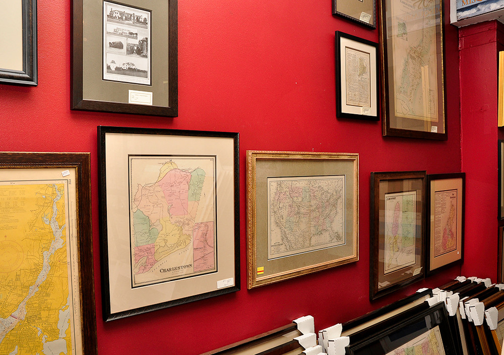 Giclee reproduction prints of 1895 & 1870 maps, $125 plus framing