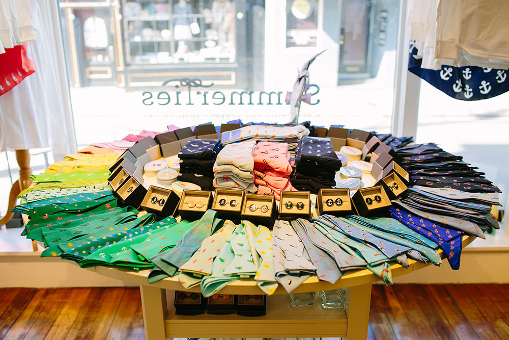 Socks $22, Pocket squares $40,