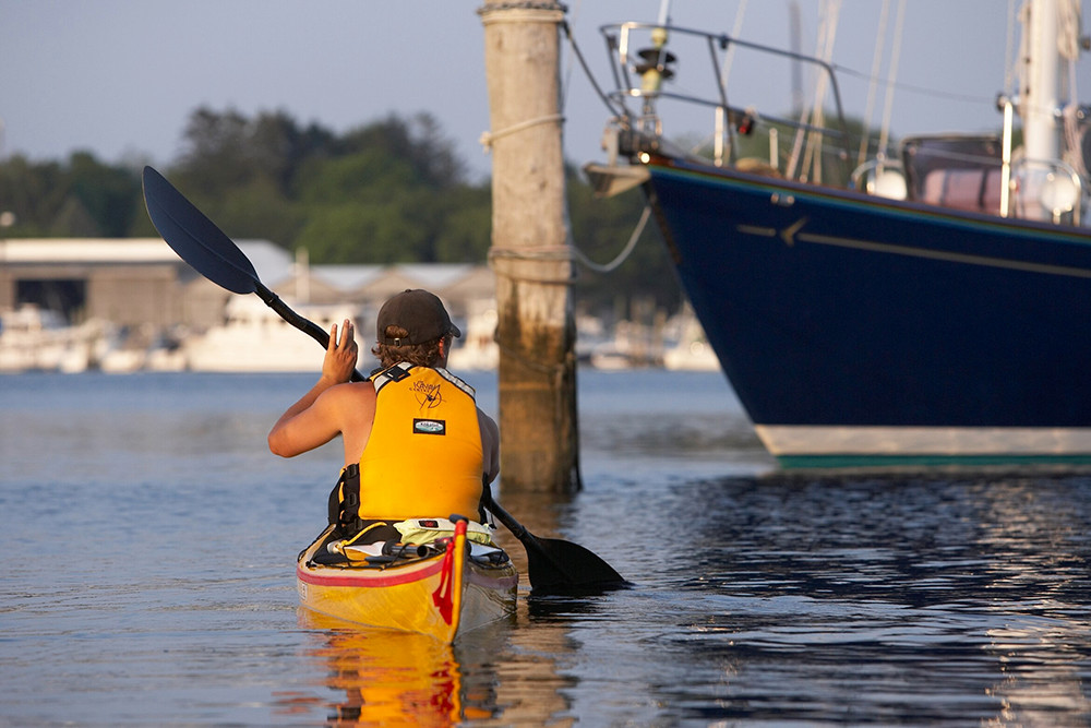 Watch the sunset with The Kayak Centre of Rhode Island