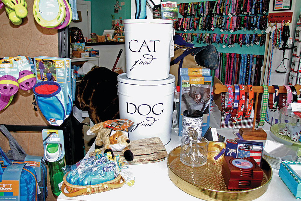 Home accents from Harry Barker and Smathers & Branson, mixed with treats and toys for the lucky cat or canine