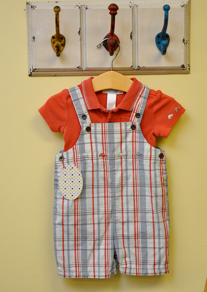 Janie and Jack overalls & polo, $13