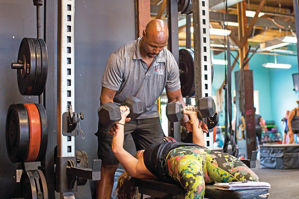 Former Patriots tight end Kerry Taylor shares his pro fitness wisdom at 212 Health and Performance in Rumford
