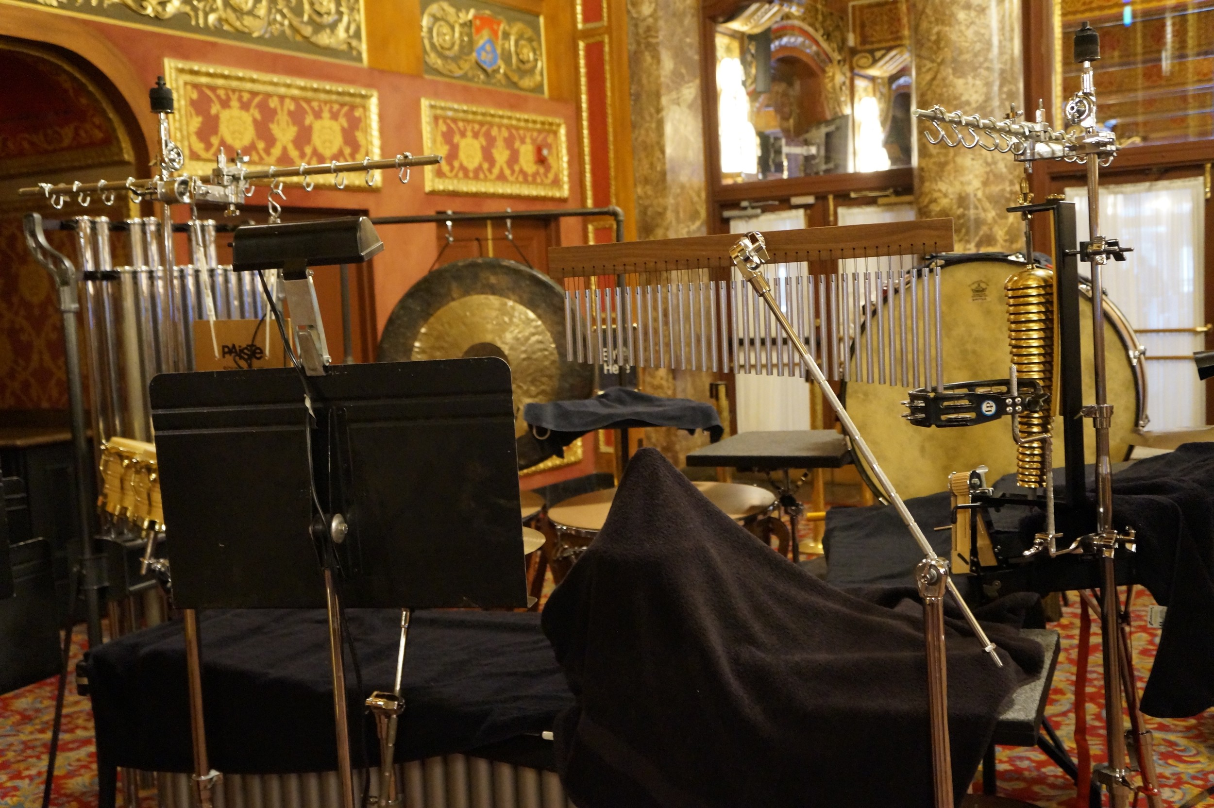 Instruments for the pit orchestra