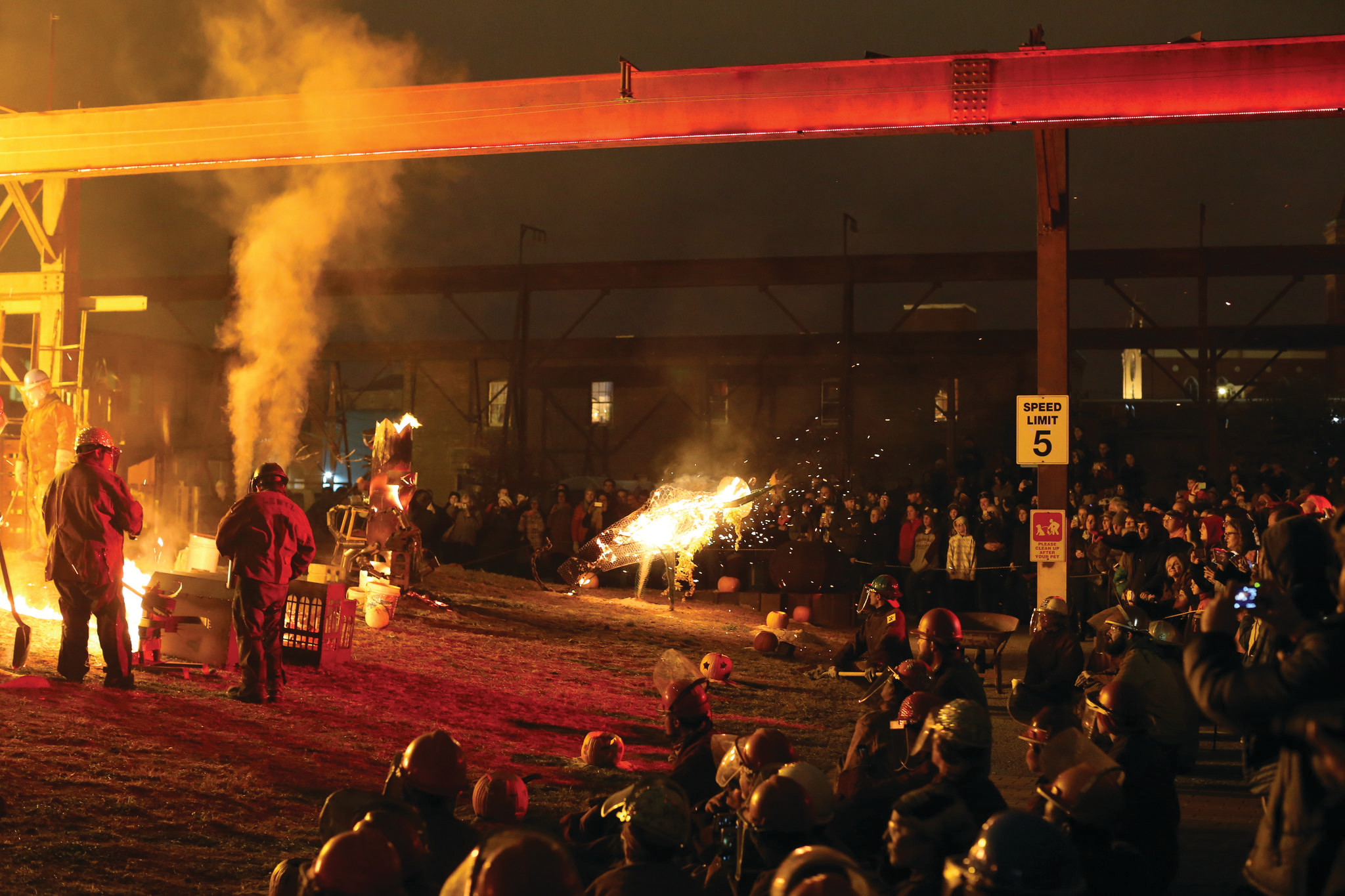 The Halloween Iron Pour at the Steel Yard