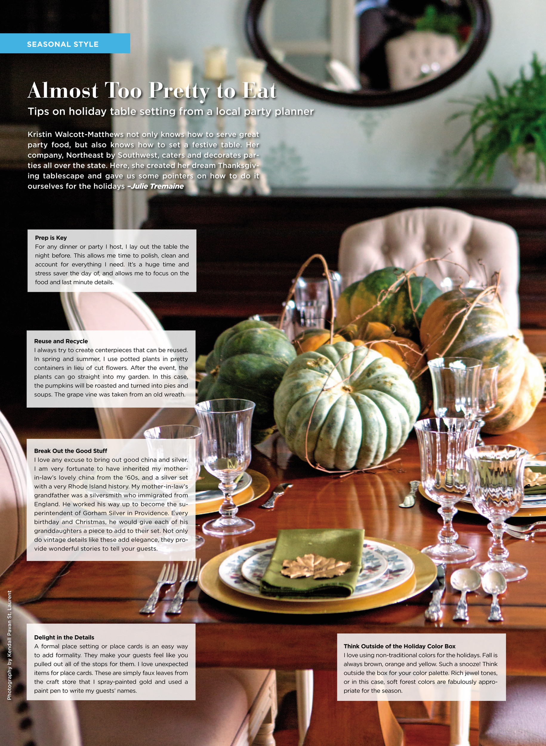 Tips on Holiday Table Setting from a Local Party Planner ...