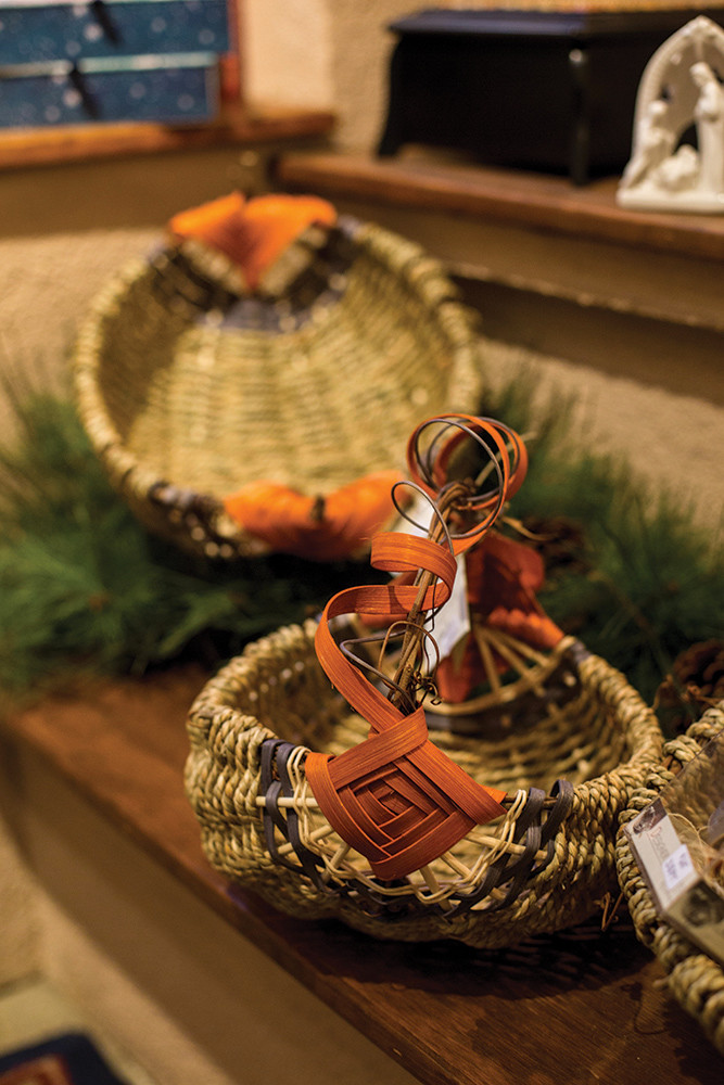 Rattan, grapevine and seagrass baskets, made in the USA, $25-50