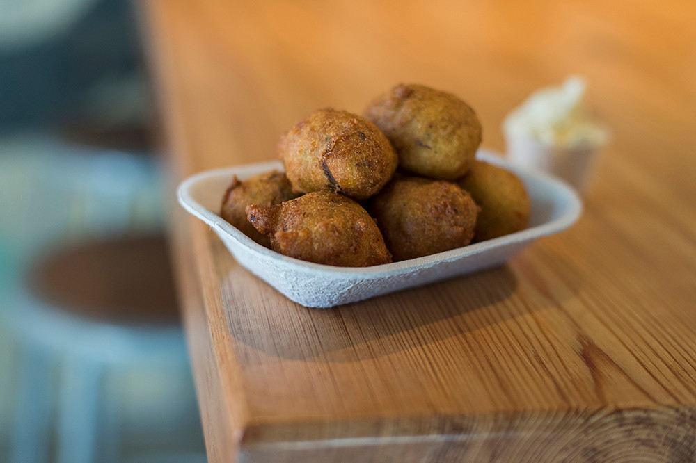 Hush puppies with honey butter