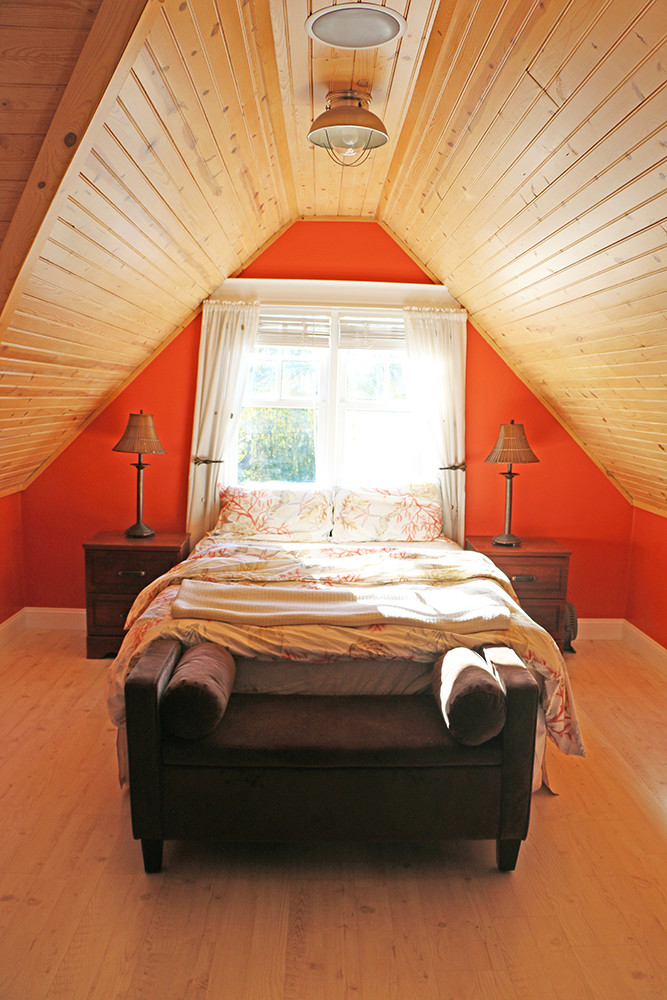 One of the bedrooms on the property