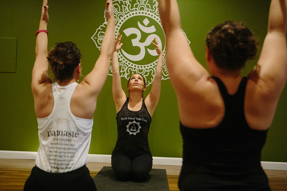 Sculpt long and lean muscles during heated yoga at the Rhode Island Yoga Center