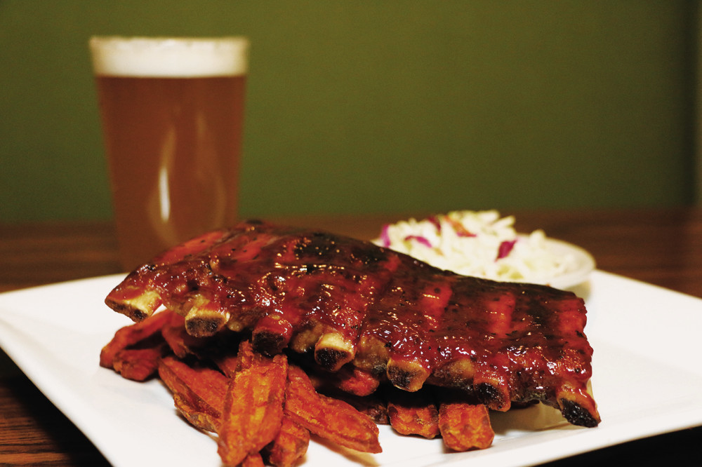 Barbecue Baby Back Ribs with Sweet Potato French Fries