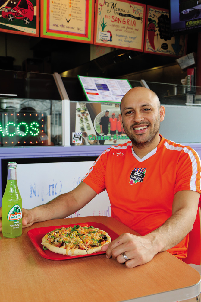 Co-owner Adolfo Sandoval sees Nacho Mamma's menu as a marriage of the food from his childhood in California and his career as a chef in Miami