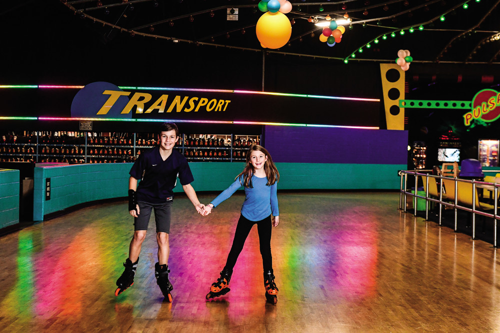 Try out roller skating at the United Skates of America