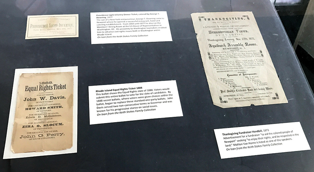 Artifacts on display at Bullets and Bulletins chronicle the efforts of 19th century African Americans who fought for equality in Rhode Island