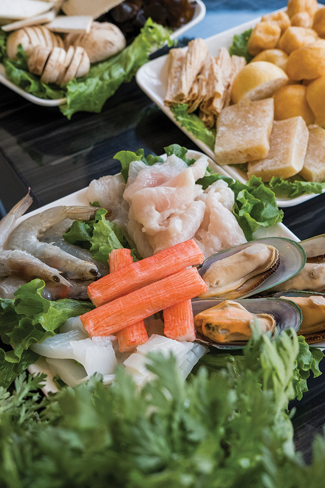The seafood platter for LaMei Hot Pot