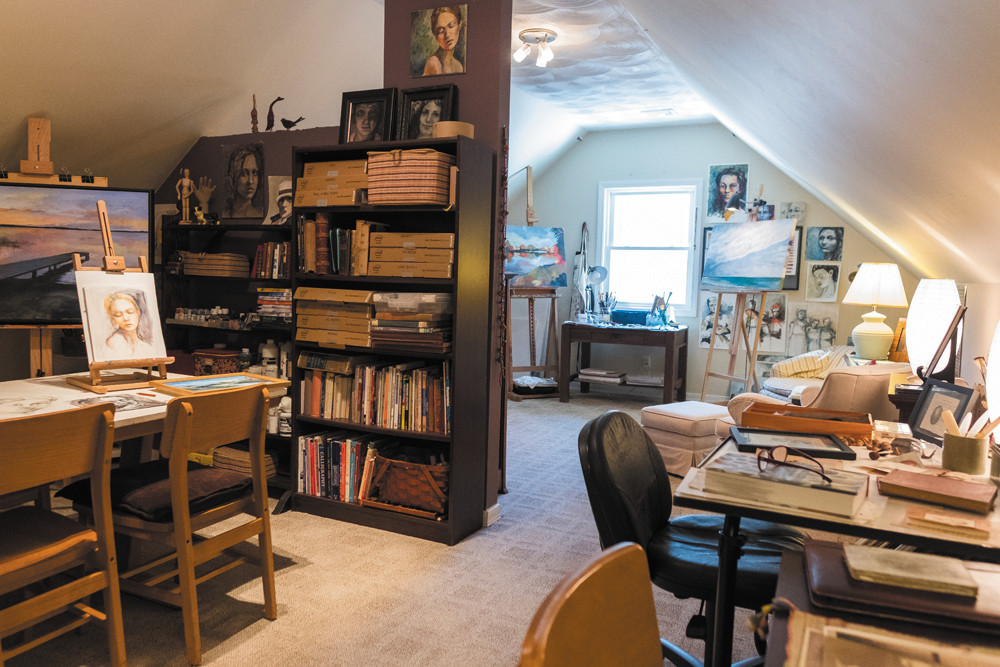Take a peek in South County residents homes, like the creative space that Susan Sward made for herself