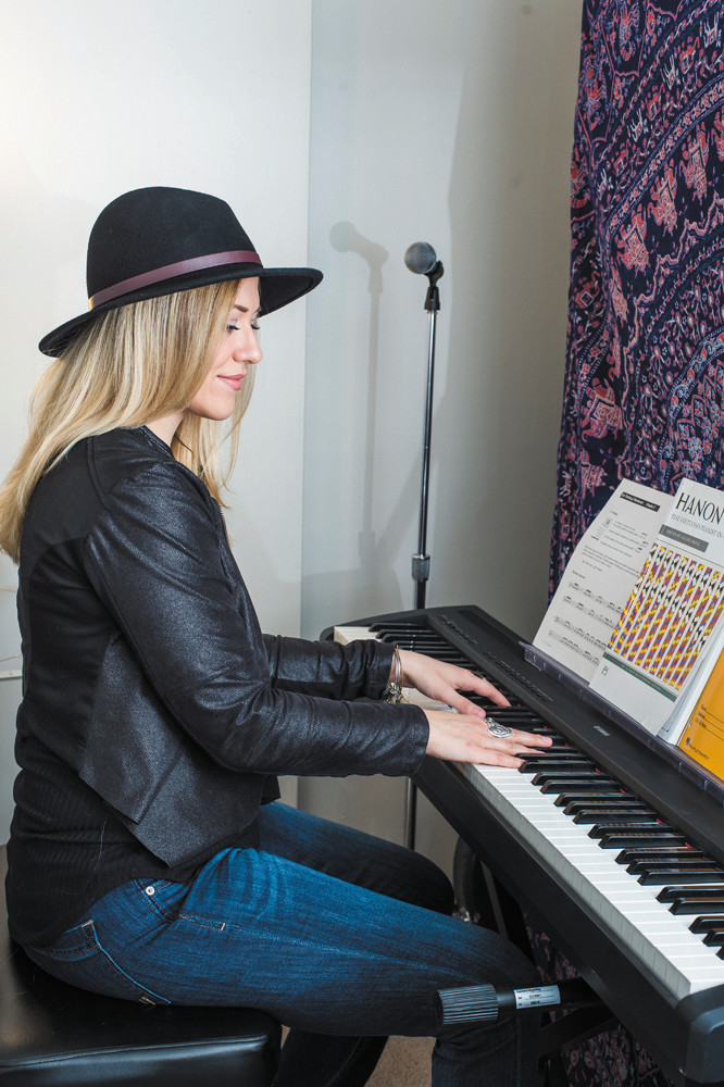 American Idol finalist Erika Van Pelt's home studio has everything a musician needs to create: her gear, her yoga mat and no distractions