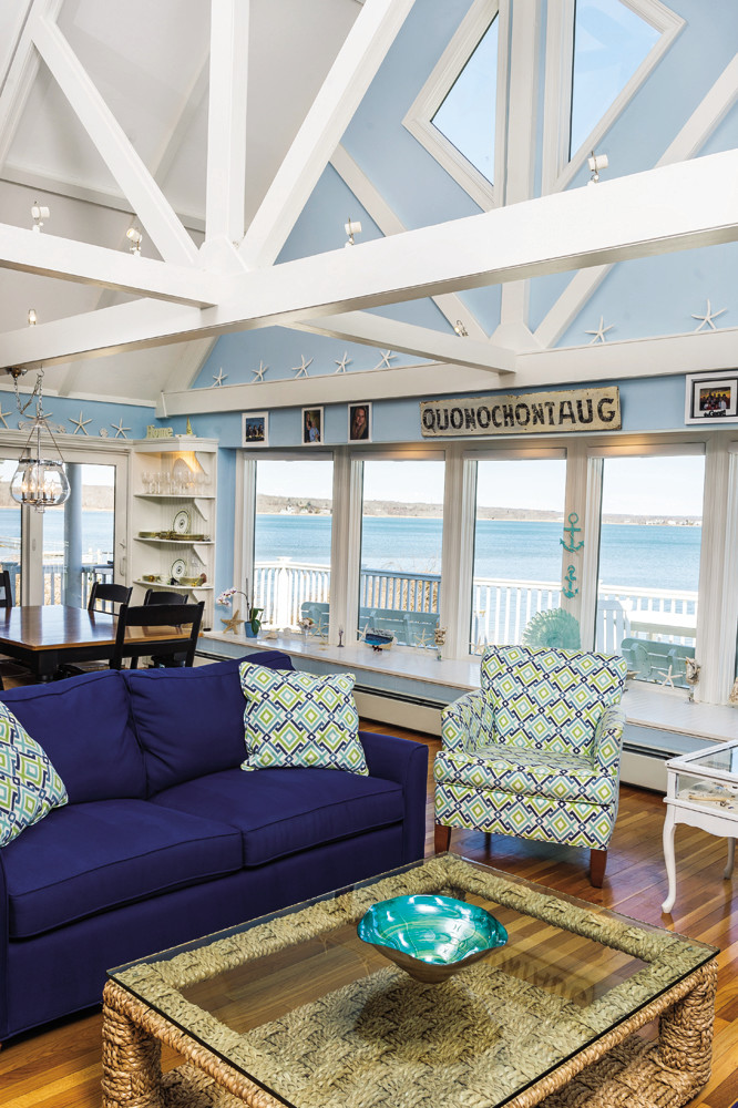 Lori Joyal's Quonochontaug home is the coastal getaway she's always known she wanted, complete with access to oysters fresh out of the water