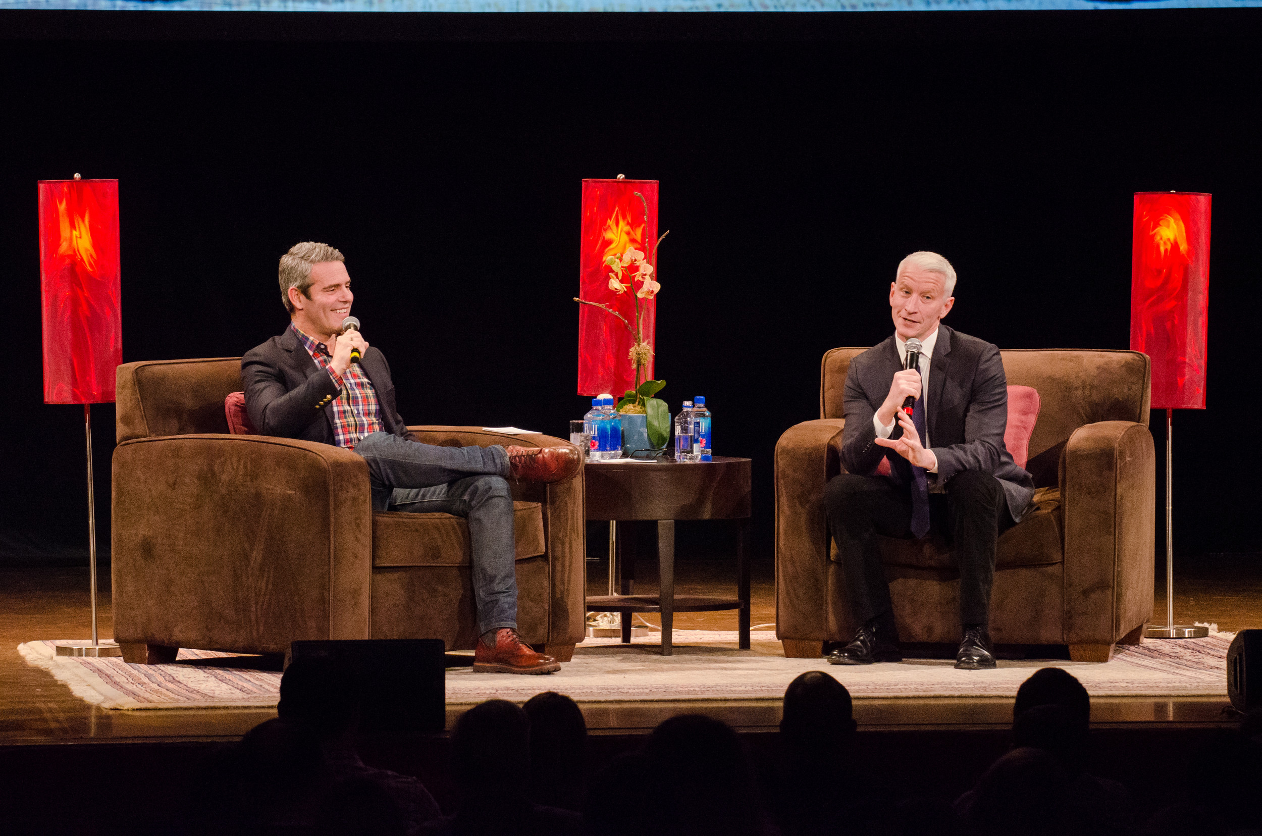 Real Housewives' Andy Cohen and CNN's Anderson Cooper meld minds at PPAC on Saturday, April 29