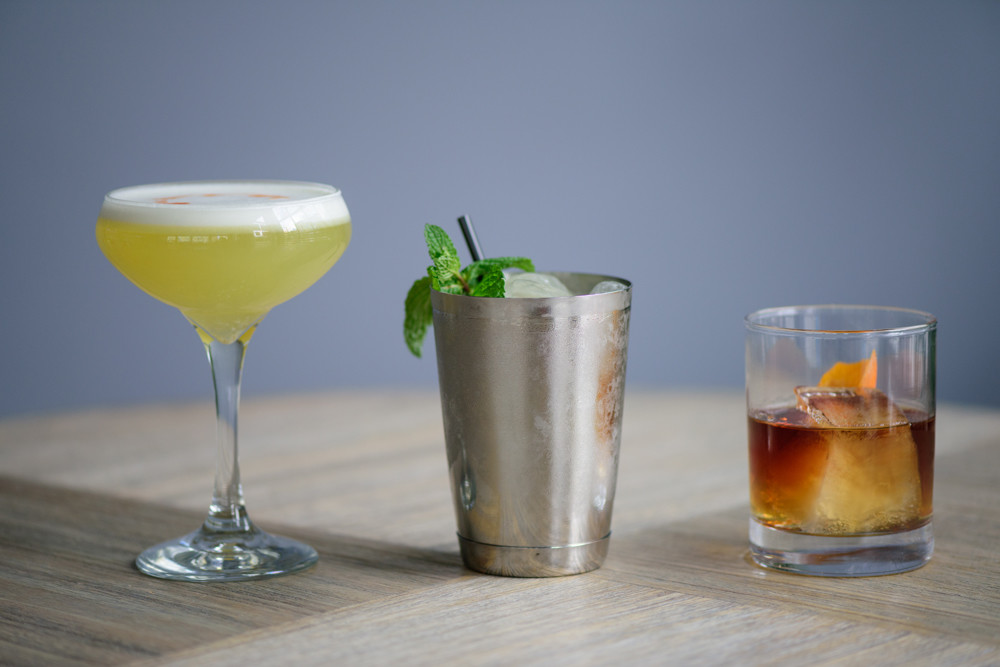 Cocktails from the bar: Mezcal Sour, The Wolf of Main Street, Burt Reynolds