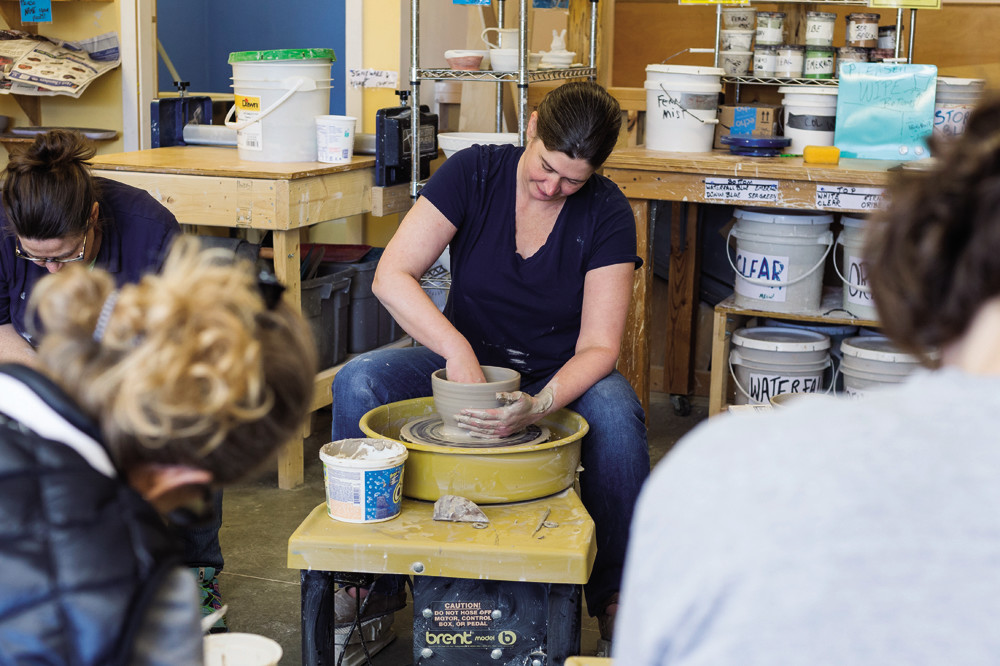 "Kara McKamey helps students ""find the joy in creating something unique to themselves"" through ceramics classes at the Jamestown Arts Center"