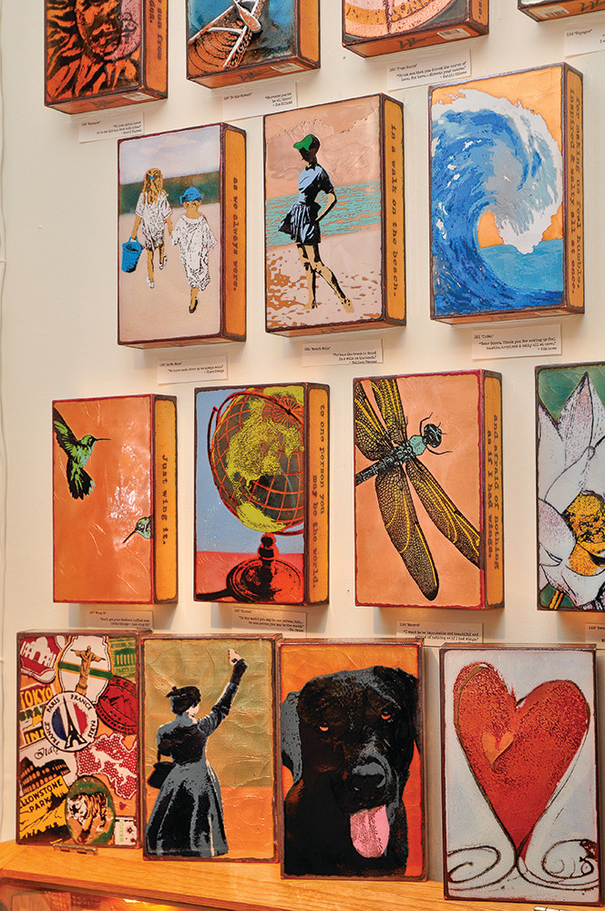 Glass on copper spirit tiles, $129