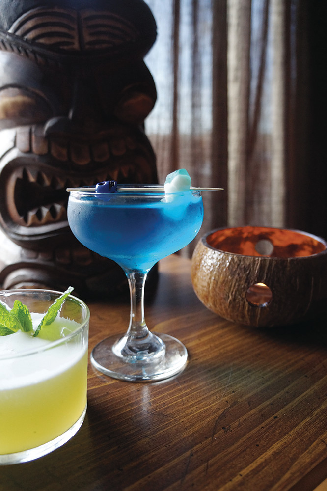 Tiki drinks from the pop-up Eight Seas