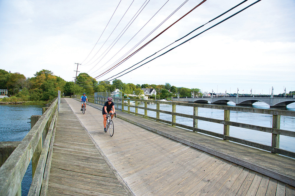 The East Bay Bike Path is the best of both worlds: exercise with the option for clam cakes