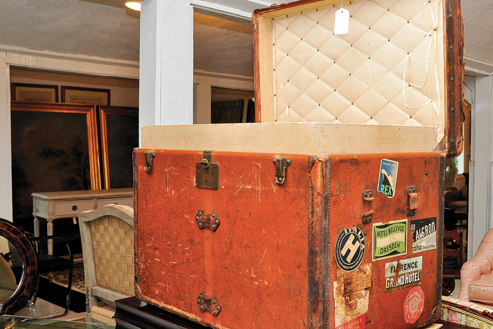 Vintage Louis Vuitton travel trunk, $5900