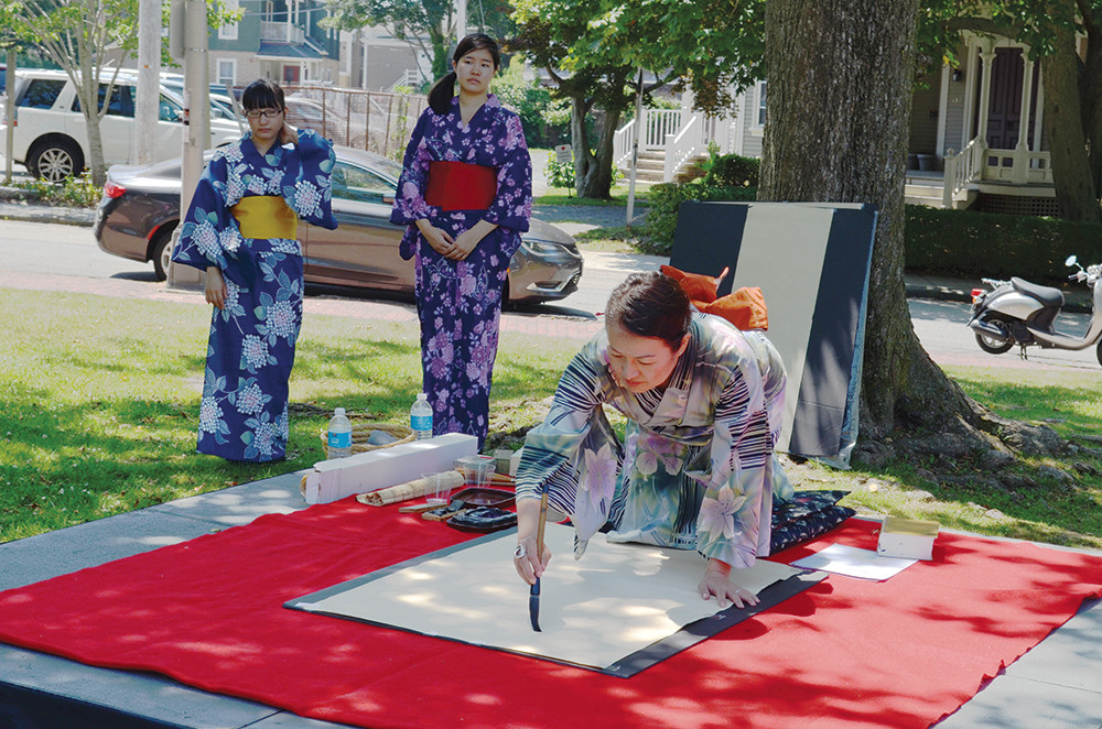 Touro Park will host activities, such as calligraphy demonstrations, during the Black Ships Festival