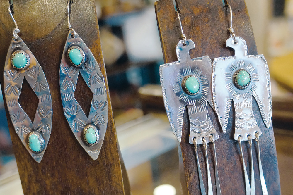 Turquoise and sterling silverCobra Cult Earrings, $160