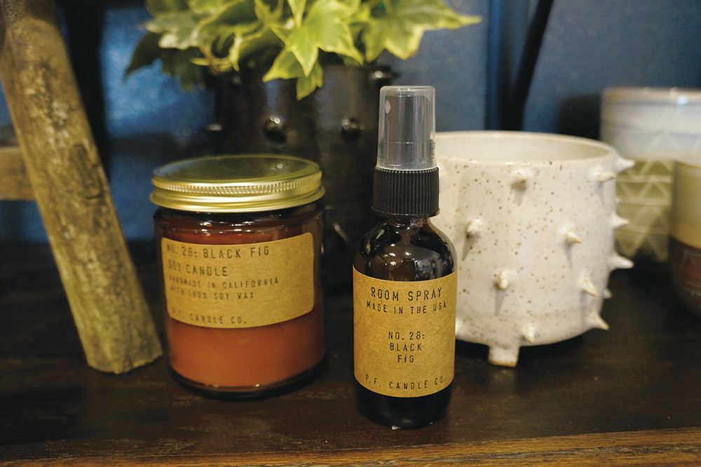 PF Candle Co. room spray, $10 and candle, $8; Little BearPots, $90-$110
