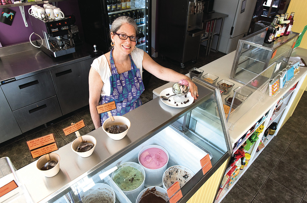 Karen Krinsky of vegan ice cream store Like No Udder