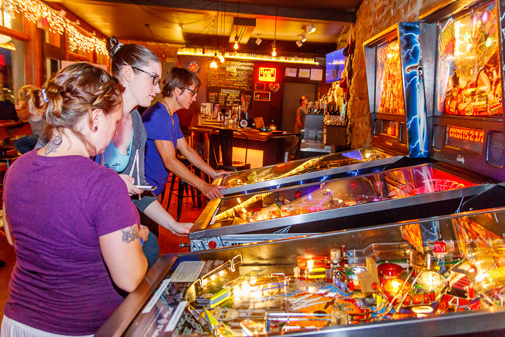 Have old school fun at Flip Side Pinball Bar in Westerly