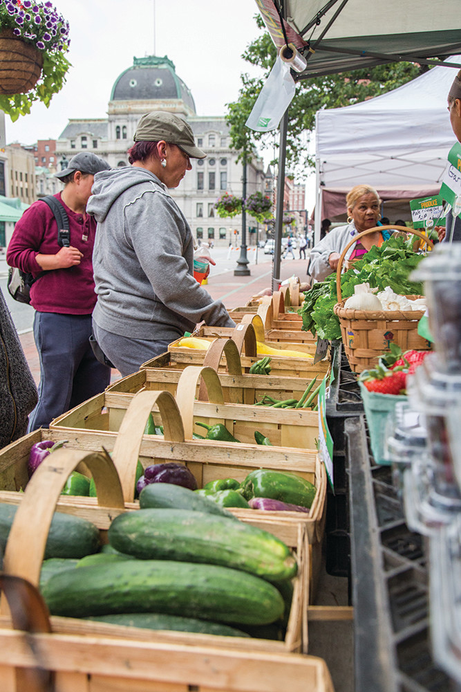 Farm fresh comes to Kennedy Plaza for the Downtown Providence Farmers Market