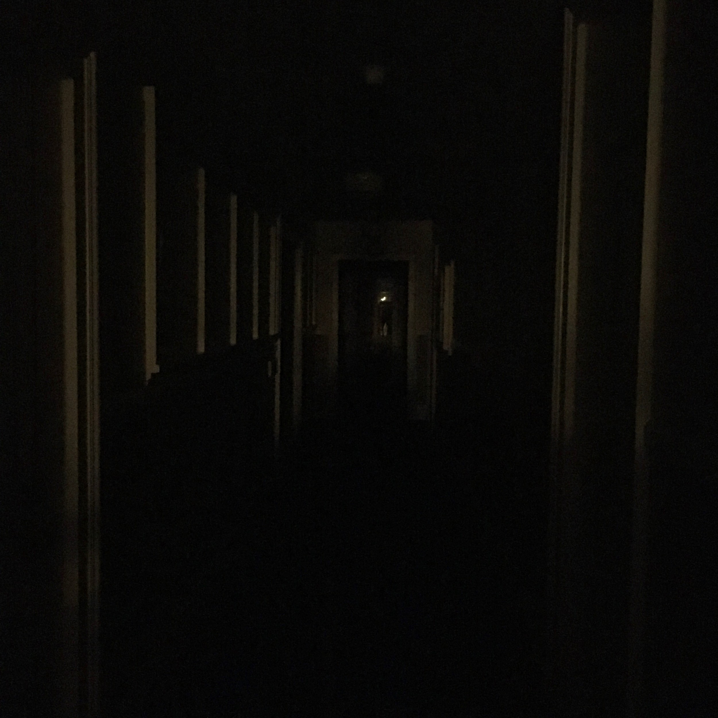 A not-at-all-haunted hallway at the Mount Washington Hotel's Bretton Arms Inn