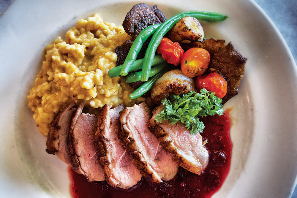 Pan Roasted Duck Breast with pumpkin risotto
