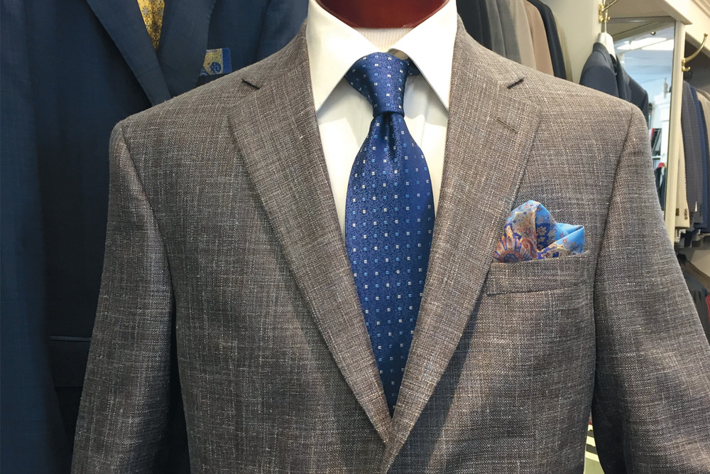 Jackets $495–$1295; Pocket Squares, $18–$85