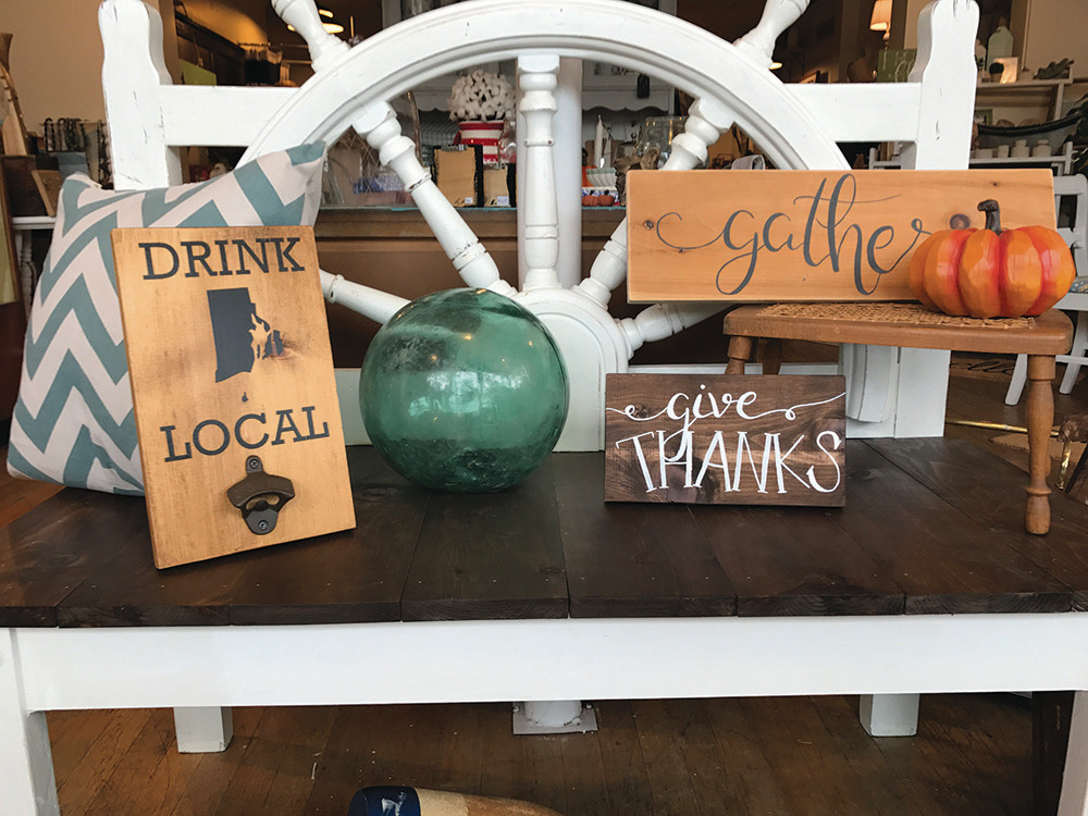 Hand-painted signs by Althea Tower, $18-$26