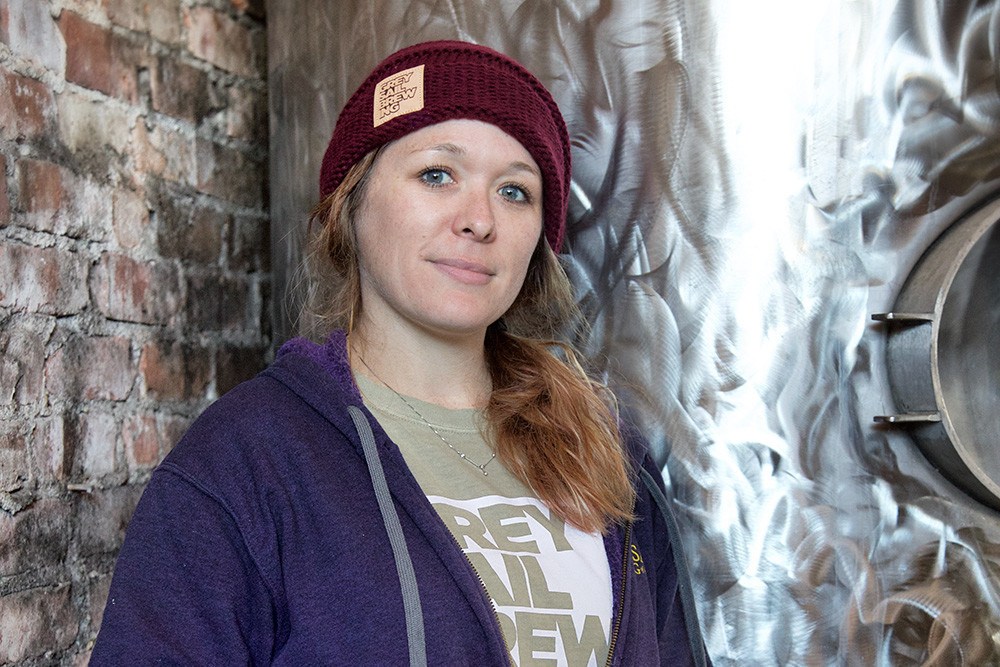Head brewer Michelle Clark
