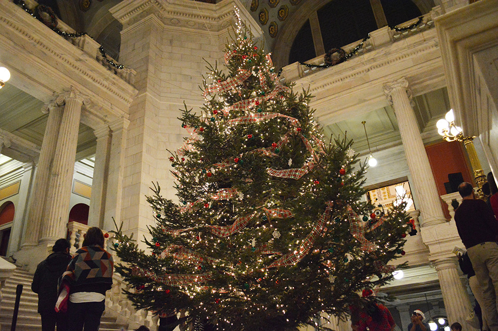 The State House's Christmas tree came from Big John Leyden's Farm in West Greenwich last year