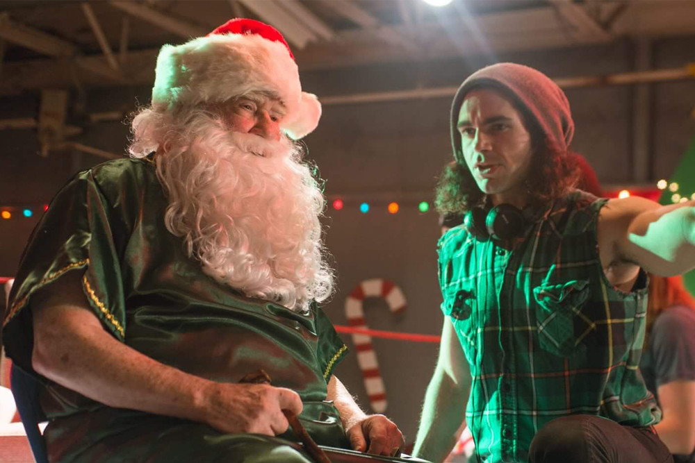 Local filmmaker Tom DeNucci directs Hollywood legend Ed Asner in Saving Christmas