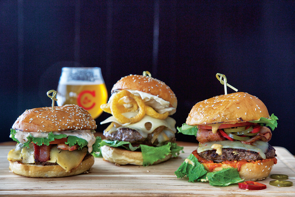 Burgers at Chomp Kitchen and Drinks