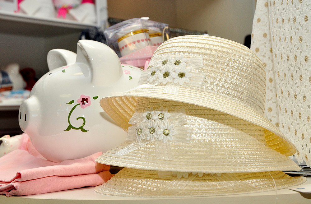 Straw hats by Mayoral, $16.95