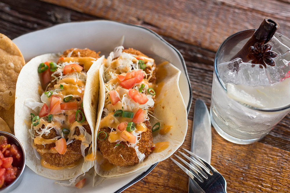 Fish tacos with panko-crusted haddock