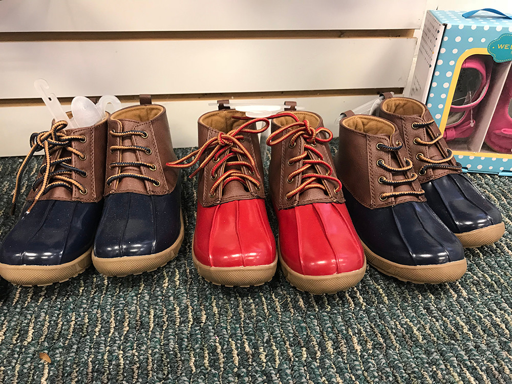 Duck boots, $29.50