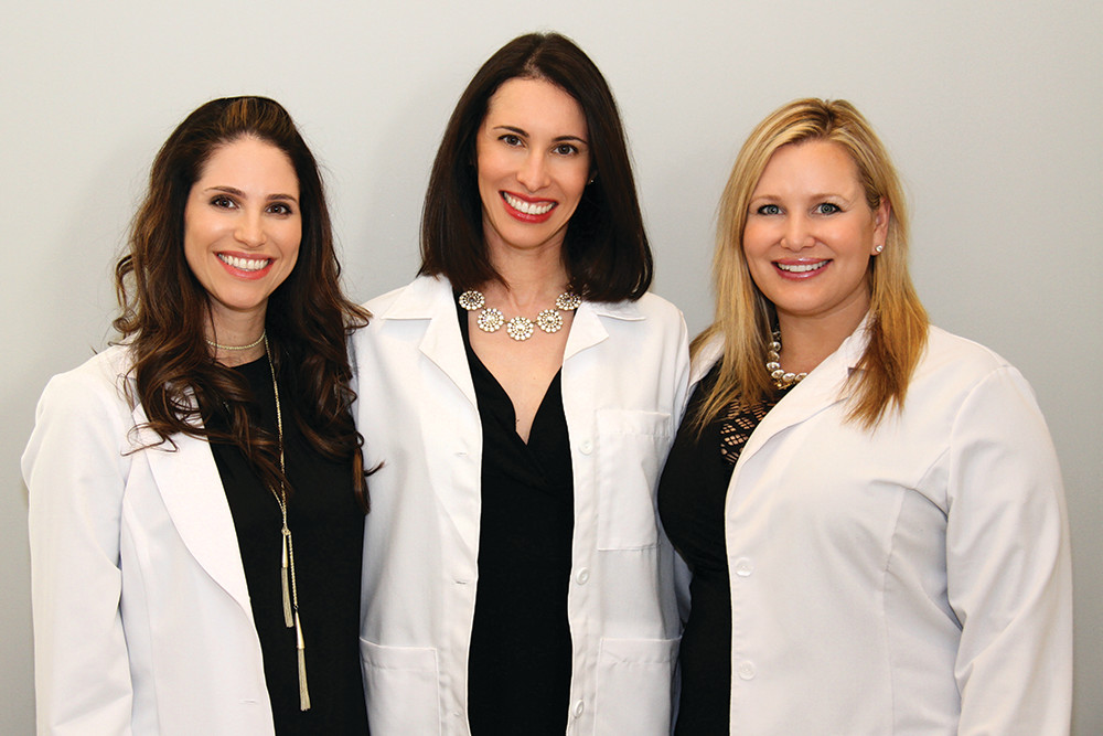 FAC's expert injectors Dr. Helen Livson, Dr. Sarah Levy and 
