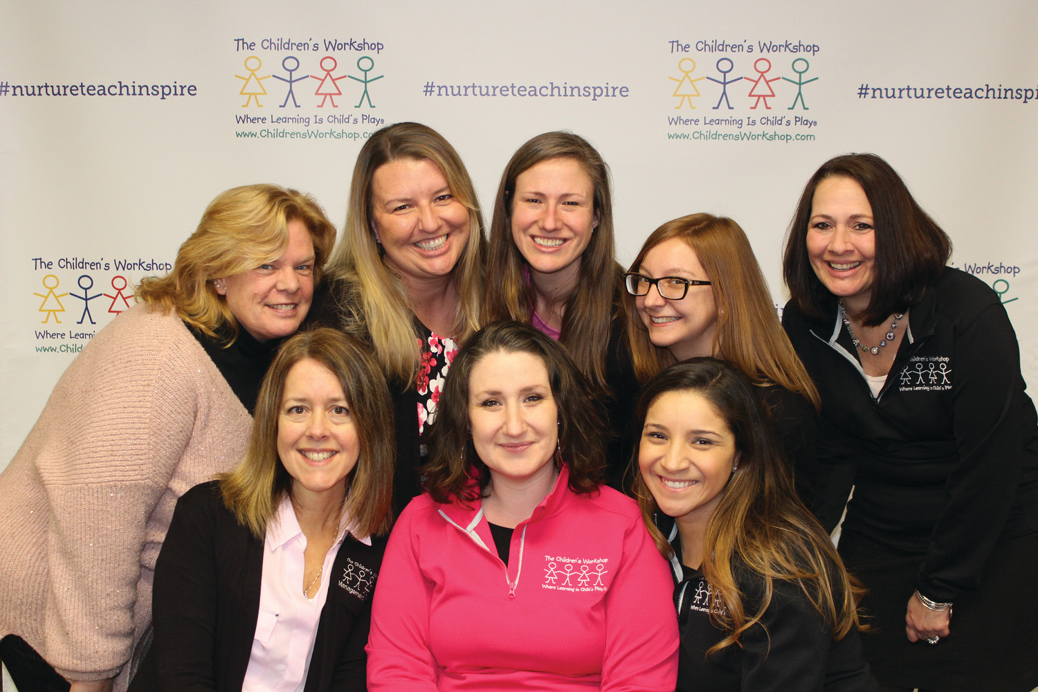The Children's Workshop Team: Beth Lobdell, Nicole Chiello, Maggie Teller, Julie Boutwell, Tracey Martin-Turgeon, Marybeth Young, Bailey Kent, Sasha Brathwaite