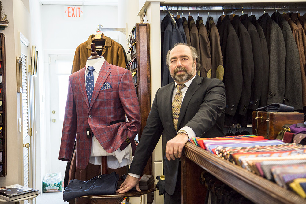 Richard Darakian of Milan Clothiers guides fashionable gents to a perfect fit