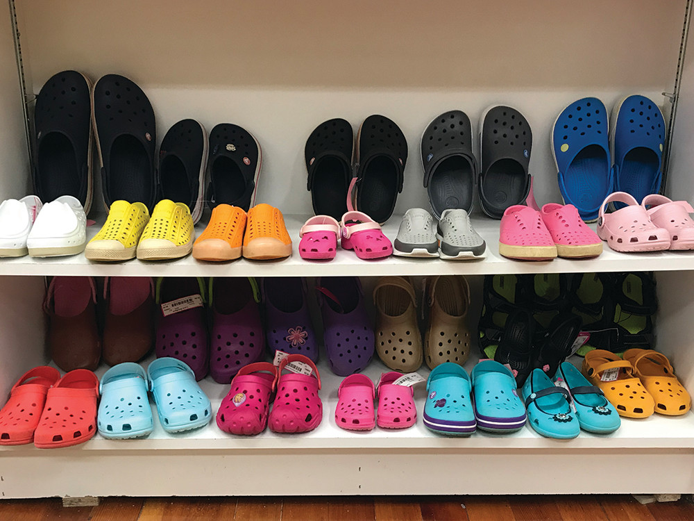Crocs and Native Shoes: $8–$12