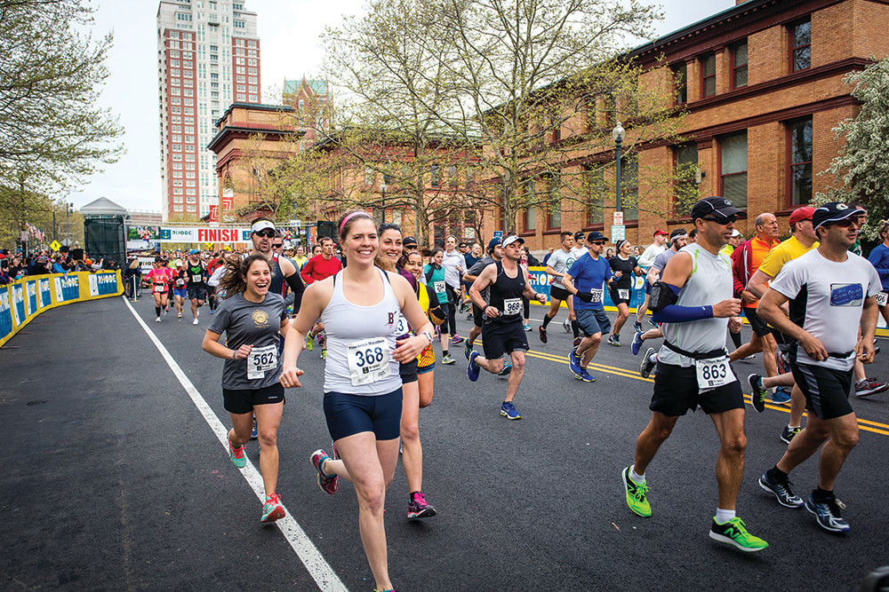 Lace up your sneakers (or cheer on runners) at the Providence Marathon on May 6.